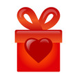 gift with love icon vector image vector image