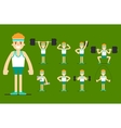 Girl plays sports Beautiful body Set Exercise vector image vector image