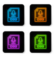 glowing neon ogg file document icon download ogg vector image vector image