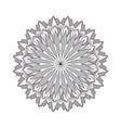 grayscale circular round simple mandala vector image vector image