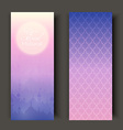 Greeting cards or banners with sunset landscape