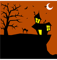 Halloween cat on a scary background vector image