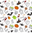Halloween flat pattern color vector image vector image