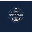 inspirational template of nautical style logo vector image vector image