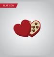 isolated chocolate flat icon shaped box