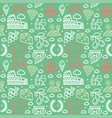 italy signs seamless pattern background on a green vector image vector image
