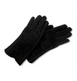 leather gloves icon realistic style vector image vector image