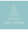 Merry Christmas card vector image