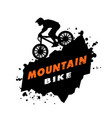 mountain bike trials emblem vector image