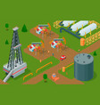 oil extraction strategy composition vector image vector image
