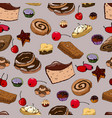 pastry pattern vector image vector image
