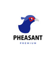pheasant flat logo icon vector image vector image