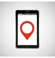 pointer map mobile phone navigation vector image vector image