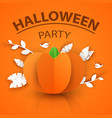 pumpkin origami styly icon halloween vector image vector image