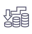recession business icon- single sign symbol vector image