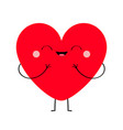 red heart icon happy valentines day sign symbol vector image vector image
