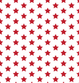 Red Stars On White Seamless Pattern vector image vector image