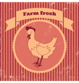 retro chicken vector image vector image