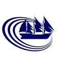 Sailing ship 8 vector image vector image