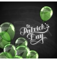 Saint Patricks Day label on the blackboard vector image vector image