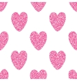 Seamless Background With Pink Hearts vector image vector image