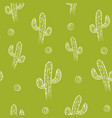 seamless pattern with cactus background vector image vector image