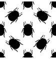 Seamless pattern with colorado potato beetle vector image vector image