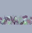 seamless tropical background floral wallpaper vector image