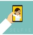 Selfie poster vector image vector image