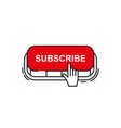 set subscribe button icon vector image