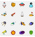 Space set icons vector image vector image