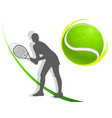 sport background tennis woman vector image vector image