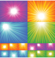 sunbeam backgrounds vector image vector image