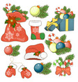 the icon of the nativity sticker set with gift box vector image vector image
