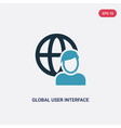 two color global user interface icon from user vector image vector image