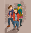 urban youth vector image