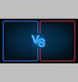 versus battle vector image