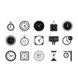 wall clock icon set simple style vector image