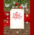 winter card frame invitation vector image vector image