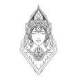women face line art design vector image vector image