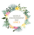 world environment day concept background vector image