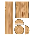 Wood texture and parts vector image
