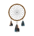 American indian dream catcher icon vector image