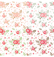 Rose seamless patterns vector image