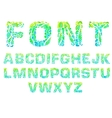 abstract art font colorful letter of the alphabet vector image