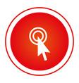 color circular emblem with cursor icon vector image