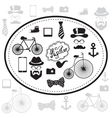 Hipster and retro style icon set vector image