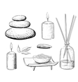 Spa set Rock Salt Essential Oil Jacuzzi vector image