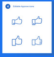 4 approve icons vector image vector image