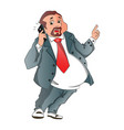 a happy businessman talking on cellphone vector image vector image
